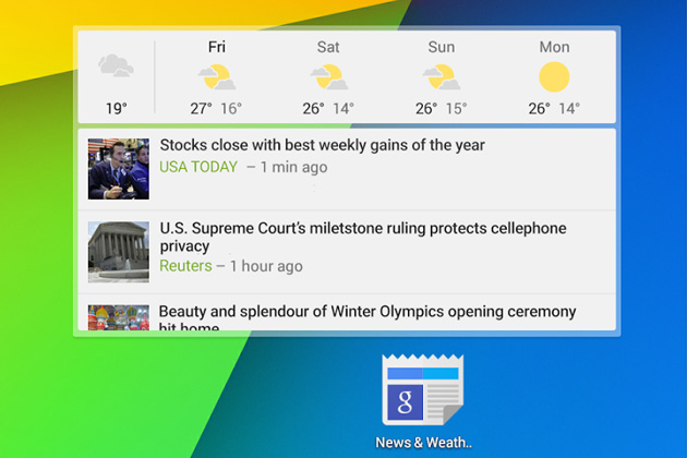 Google-News-and-Weather-2-Android-widget - OkayAndroid
